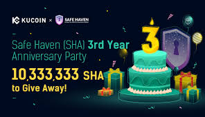 The people involved into crypto community found. Kucoin Cryptocurrency Exchange Buy Sell Bitcoin Ethereum And More Safe Haven Sha 3rd Year Anniversary Party 10 333 333 Sha To Give Away