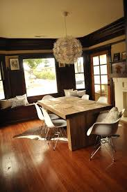 rug under kitchen table. Area Rug Under Kitchen Table Dining Room  Transitional With Chunky Wooden Contrast Image By Images Of Rugs Tables Rug Under Kitchen Table