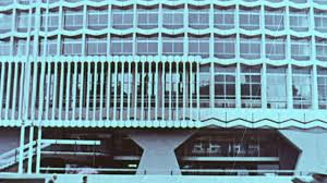 I 1967 MONTAGE Office Building With Pedestrians On The Sidewalk  Centre  Point London England