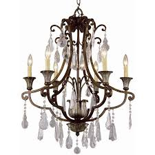 crystal flair 6 light chandelier with crystal accents