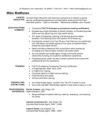 Flight Attendant Resume Objectives Sample Flight Attendant Resume