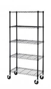 5 shelf metal storage rack best of 5 shelf black steel wire shelving 30 by 14