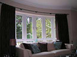 Image of: Awesome Bay Window Treatments Ideas