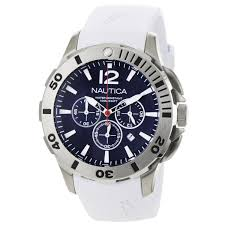 nautica n16568g bfd 101 white rubber and blue dial men s watch nautica n16568g bfd 101 white rubber and blue dial men s watch