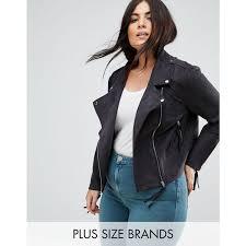 missguided plus faux suede biker jacket women s coats jackets black lpmr6o