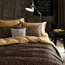 black and coffee brown leopard print y style luxury twin full size bedding sets