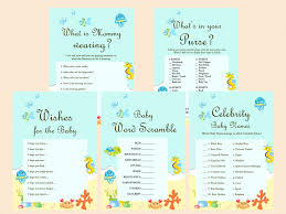 Under The Sea Baby Shower Game Printables Beach Baby Shower Game Beach Theme Baby Shower Games