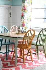 diy er lolly jane lollyjane painted four bright colorful chairs with chalky paint customized to fit her home office decor