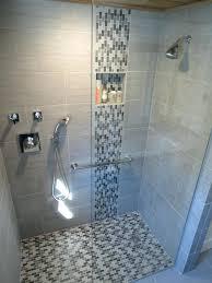 glass tile in shower creative glass glass subway tile shower floor