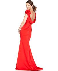 Js Designs Dresses Js Collections Dress Cap Sleeve Open Back Evening Gown