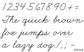 Zaner Bloser Cursive Writing Fonts