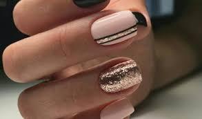 pink black nails rose gold nail designs 2018