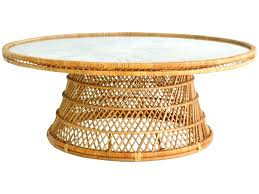 rattan coffee table with glass top white wicker coffee table glass top round wicker coffee table