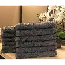 Shop Solid Gray 12 piece <b>100</b>% Cotton <b>Hand</b> Towel - <b>Free Shipping</b> ...