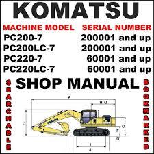 komatsu pc200 7 pc200lc 7 pc220 7 pc220lc 7 excavator service sh pay for komatsu pc200 7 pc200lc 7 pc220 7 pc220lc