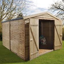 10 x 8 3 05m x 2 44m forest overlap pressure treated apex shed no windows
