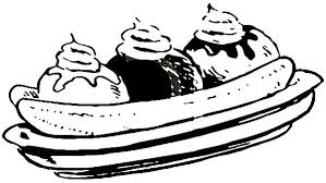 Small Picture Three Flavour Banana Split Coloring Pages Best Place to Color