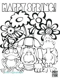 Spring Coloring Pages Printable Ideas Ascenseurinfo