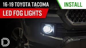 2019 Toyota Tacoma Led Fog Lights How To Install 2016 2019 Toyota Tacoma Fog Light Leds Diode Dynamics