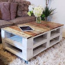 LEMMIK Pallet Coffee Table in Farmhouse Style