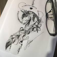 Pin by Anastasia Dovidova on Tattoos luciano | <b>Unicorn</b> tattoo ...