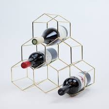 Small wine racks Amazon This Midcentury Modern Gold Metal Wine Rack Is Truly Thing Of Beauty Modern And Functional This Gold Plated Stainless Steel Sixbottle Rack Will Look Vinepair The Best Tabletop Wine Racks For Small Kitchens Vinepair