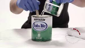 how to paint your bath tub and tiles with rust oleum tub tile refinishing kit