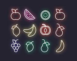 Vector Neon Fruits