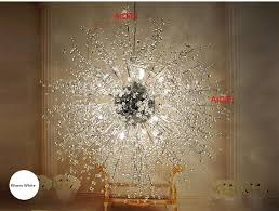 modern led ball chandelier creative spark fireworks stars minimalist living room crystal chandelier bedroom restaurant