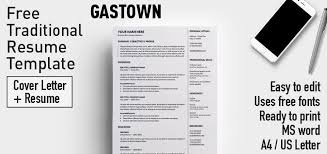 Gastown Is A 2 Column Free Traditional Resume Template One Page