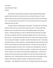 group observation paper niki covello group observation paper the group observation paper niki covello group observation paper the group that i had observed was through a hospice facility that offered support groups