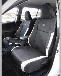 toyota rav4 seat covers black white leatherette 4th generations