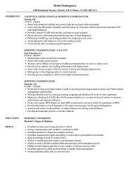 Shipping Coordinator Resume Samples Velvet Jobs