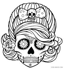 Skull Coloring Pages Printable Skull Printable Coloring Pages In