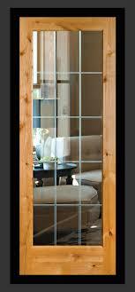 knotty alder glass doors interior door knotty alder