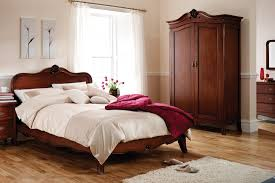 King Size Bedroom Furniture Louis French Solid Mahogany 6 Super King Size Bed Oak Furniture Uk