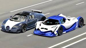 Fake devel sixteen 5000hp vs bugatti chiron 1500hp who s the fastest bugatti. Devel Sixteen Vs Bugatti Veyron With Hypersonic Engine Drag Race 20 Km Youtube