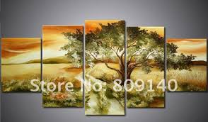 paintings for office walls. Free Shipping African Landscape Oil Painting Canvas Road Art High Quality Handmade Modern Home Decoration Office Wall Decor Paintings For Walls S