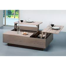 Table Basse Plateau Relevable Design