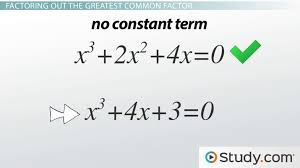How To Factor A Cubic Using The Greatest Common Factor To Solve Cubic Equations Video