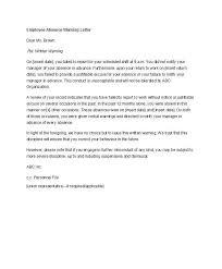 sle final warning letter employee