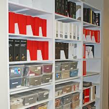 office storage design. toronto interior design company reference material on 4-post shelving with pull-out reference. office file storage s