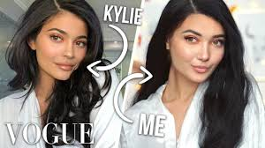 i tried following kylie jenner s vogue makeup routine ad