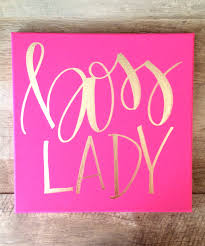 pink office decor. Boss Lady Hot Pink And Gold Canvas Home Decor Office W