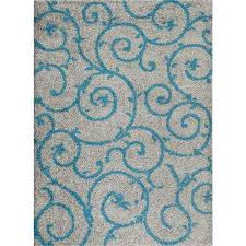 soft cozy contemporary scroll turquoise