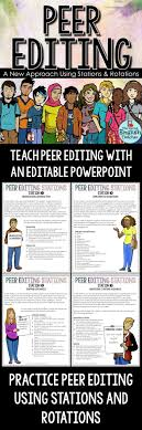 best images about essay mini lessons for middle school and high peer editing stations and rotations