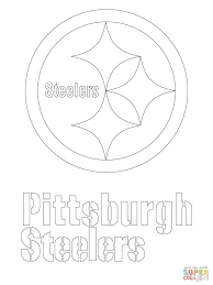 Pittsburgh Steelers Logo Coloring Page Free Printable Pages Of