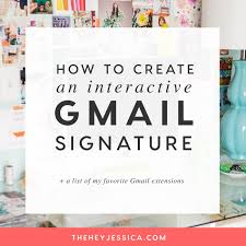 Interactive Gmail Signature Create It Easily