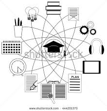 stock vector education concept with graduation hat and education icons search reading listening writing time 444201373 academic calendar stock photos, royalty free images & vectors on 2016 2017 academic calendar template