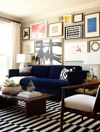 Blue Velvet Sofa by Emily Henderson